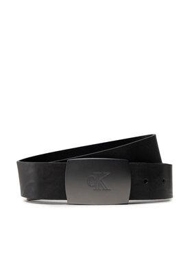 Calvin Klein Calvin Klein Pánsky opasok Rounded Plaque Belt 35mm K50K507067 Čierna