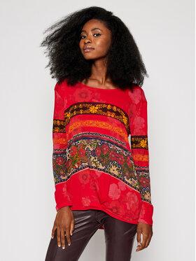 Desigual Desigual Блуза Yess 20WWTK34 Червен Regular Fit