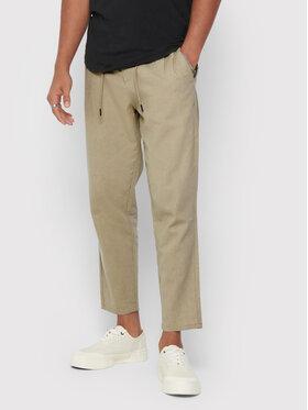 Only & Sons ONLY & SONS Kalhoty z materiálu Leo 22013002 Béžová Regular Fit