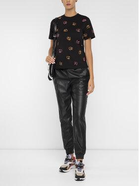 MCQ Alexander McQueen MCQ Alexander McQueen T-shirt 473705 RNJ56 1000 Crna Regular Fit