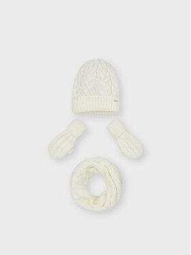 Mayoral Mayoral Ensemble : bonnet, écharpe et gants 10156 Blanc