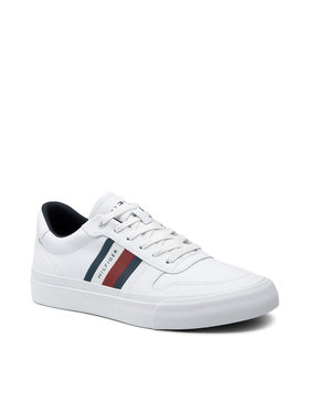 Tommy Hilfiger Tommy Hilfiger Sportcipő Core Corporate Stripes Vulc FM0FM03623 Fehér