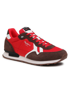 Pepe Jeans Pepe Jeans Sneakersy Britt Man Basic PMS30721 Červená