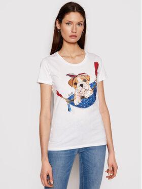 Liu Jo Liu Jo T-shirt WA1495 J5003 Bijela Slim Fit