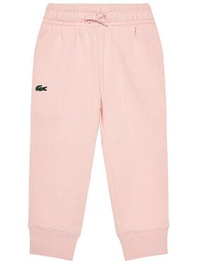 Lacoste Lacoste Teplákové kalhoty XJ9476 Růžová Regular Fit