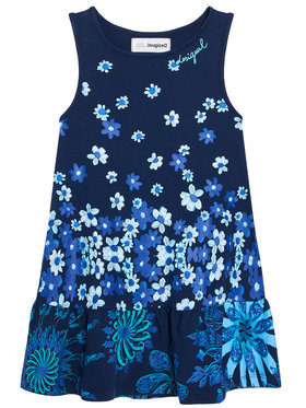 Desigual Desigual Každodenní šaty lISA 21SGVK04 Tmavomodrá Regular Fit