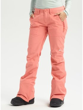 Burton Burton Pantaloni da snowboard Vida 15006104600 Arancione Slim Fit