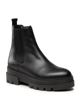 Tommy Hilfiger Tommy Hilfiger Μποτάκια με λάστιχο Monochromatic Chelsea Boot FW0FW05950 Μαύρο
