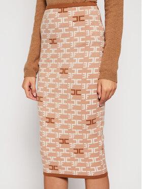Elisabetta Franchi Elisabetta Franchi Pouzdrová sukně GK-22B-06E2-V189 Béžová Slim Fit