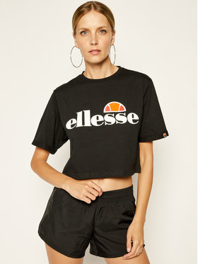 Ellesse Ellesse T-Shirt Alberta Crop SGS04484 Czarny Regular Fit