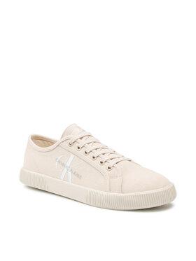Calvin Klein Jeans Calvin Klein Jeans Sneakers aus Stoff Vulcanized Sneaker Laceup Co YM0YM00254 Beige