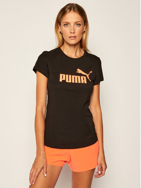 Puma Puma Tricou Ess+Metallic Tee 582407 Negru Regular Fit