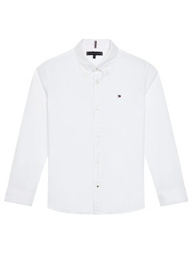 Tommy Hilfiger Tommy Hilfiger Camicia Solid Poplin KB0KB06965 D Bianco Slim Fit