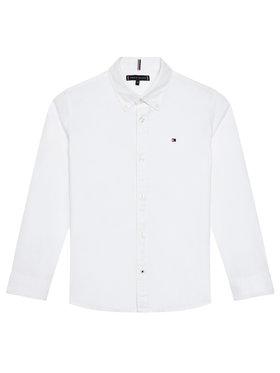 Tommy Hilfiger Tommy Hilfiger Риза Solid Poplin KB0KB06965 D Бял Slim Fit
