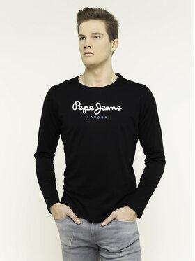 Pepe Jeans Pepe Jeans Marškinėliai ilgomis rankovėmis Eggo Long PM501321 Juoda Regular Fit