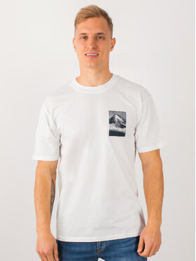 Edwin Edwin T-shirt From Mt Fuji Ts I025883 TG392M4 267 Blanc Regular Fit