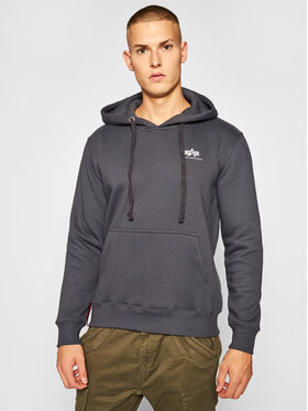 Alpha Industries Alpha Industries Bluza Basic Small Logo 196318 Szary Regular Fit