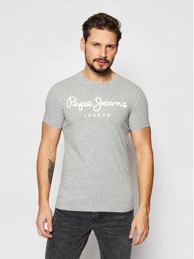 Pepe Jeans Pepe Jeans T-shirt Original Stretch PM501594 Grigio Slim Fit