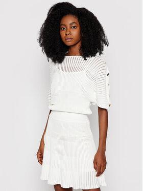 Marciano Guess Marciano Guess Koktejlové šaty 1GG759 5641Z Biela Regular Fit