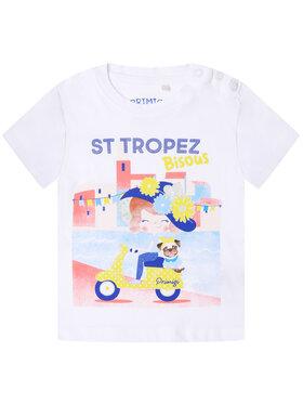 Primigi Primigi T-Shirt St Tropez Bisous 45221503 Biały Regular Fit