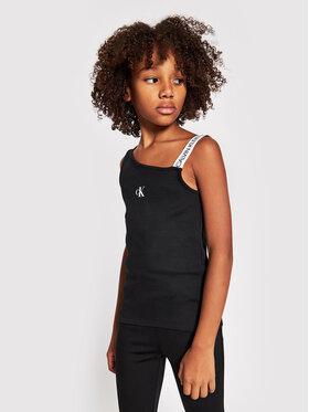 Calvin Klein Jeans Calvin Klein Jeans Top Asymmetric Logo IG0IG00928 Negru Regular Fit