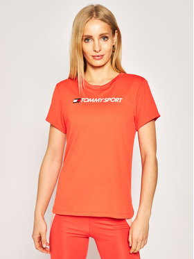 Tommy Sport Tommy Sport T-Shirt Performance Chest Logo S10S100453 Rot Regular Fit
