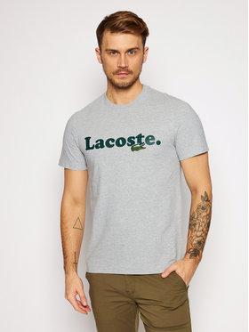 Lacoste Lacoste Marškinėliai TH1868 Pilka Regular Fit