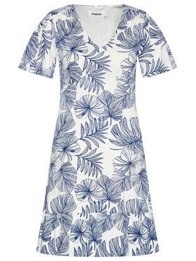 Desigual Desigual Letní šaty Nadia 21SWVKBB Bílá Regular Fit
