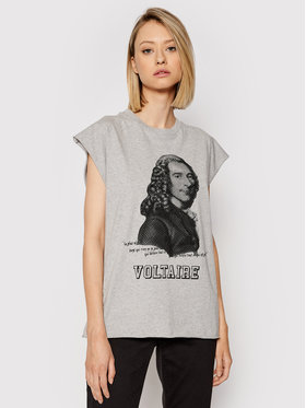 Zadig&Voltaire Zadig&Voltaire Футболка Cecilia WKTS7003F Сірий Relaxed Fit