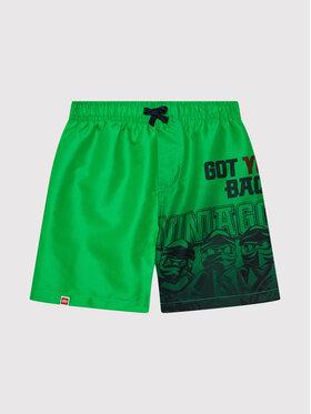 LEGO Wear LEGO Wear Pantaloni scurți pentru înot 12010147 Verde Regular Fit