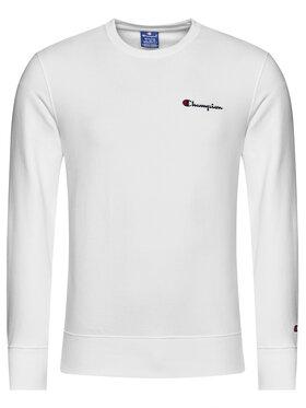 Champion Champion Bluza Small Script Logo 214781 Biały Comfort Fit