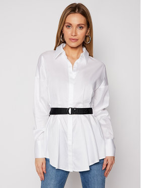 Guess Guess Marškiniai Rhianna W1RH68 WAF10 Balta Regular Fit