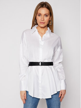 Guess Guess Риза Rhianna W1RH68 WAF10 Бял Regular Fit