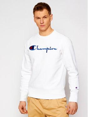 Champion Champion Bluză Script Logo Reverse Weave 215160 Alb Custom Fit