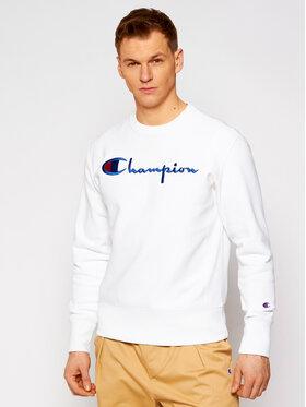 Champion Champion Majica dugih rukava Script Logo Reverse Weave 215160 Bijela Custom Fit