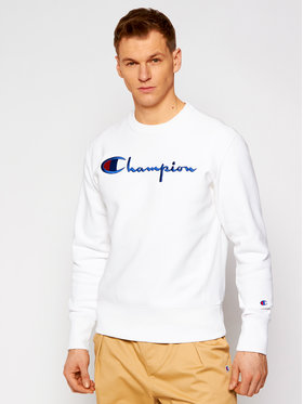 Champion Champion Суитшърт Script Logo Reverse Weave 215160 Бял Custom Fit
