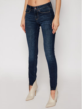 Guess Guess Jeansy Ultra Skinny Fit Jewel W1RA03 D4AK1 Granatowy Ultra Skinny Fit