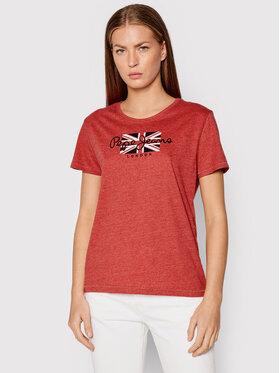 Pepe Jeans Pepe Jeans T-Shirt Zaidas PL504965 Červená Regular Fit
