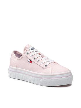 Tommy Jeans Tommy Jeans Tenisówki Flatform Vulc EN0EN01423 Różowy