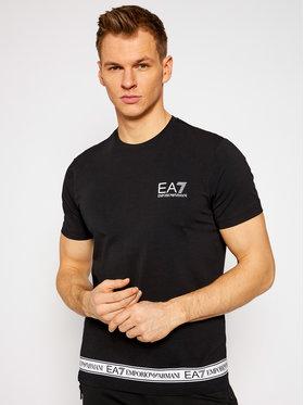 EA7 Emporio Armani EA7 Emporio Armani Marškinėliai 3KPT05 PJ03Z 1200 Juoda Regular Fit