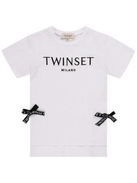 TwinSet TwinSet Tričko 201GB2370 M Biela Regular Fit