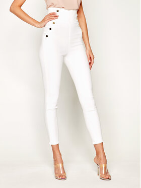 Guess Guess Jeansy Slim Fit JENNIFER LOPEZ Gwen W02A08 D3XV2 Bílá Slim Fit