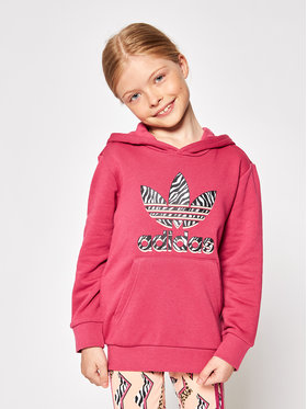 adidas adidas Komplektas: džemperis ir tamprės Graphic Print GN2211 Rožinė Regular Fit