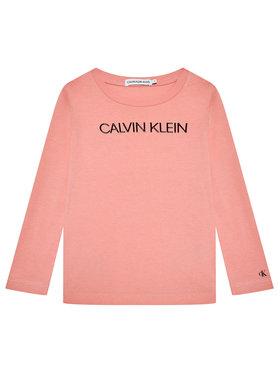 Calvin Klein Jeans Calvin Klein Jeans Bluzka Institutional Logo IG0IG01014 Różowy Regular Fit