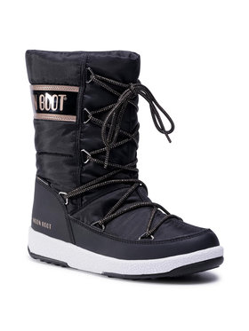 Moon Boot Moon Boot Śniegowce Jr G.Quilted Wp 34051400005 D Czarny