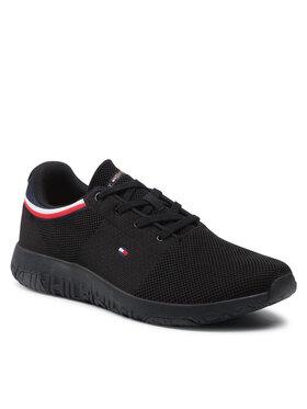Tommy Hilfiger Tommy Hilfiger Sneakers Lightweight Knit Runner Collar FM0FM03614 Noir