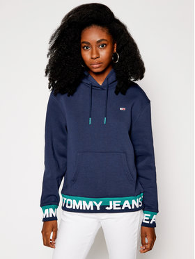 Tommy Jeans Tommy Jeans Sweatshirt Branded Hem DW0DW08980 Dunkelblau Loose Fit