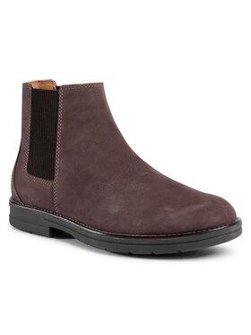 Clarks Clarks Členková obuv s elastickým prvkom Banning Limit 261517547 Hnedá