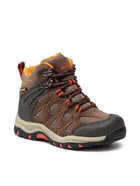 Hi-Tec Hi-Tec Παπούτσια πεζοπορίας Kaori Mid Wp Jr AVSAW18-HT-01-Q4 Καφέ