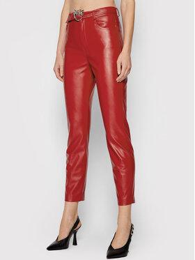 Pinko Pinko Spodnie z imitacji skóry Susan 15 1G16WU 7105 Czerwony Skinny Fit